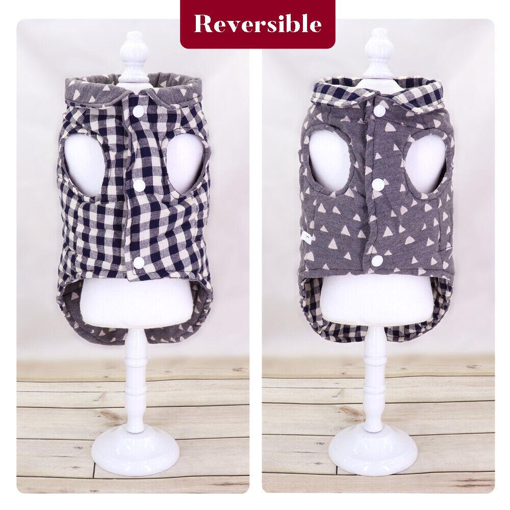 Reversible Plaid Pet Dog Vest Warm-Plaid-Dog-Coat-Jacket-Winter-Puppy-Small-Pet-Reversible-Dog-Clothes-Apparel