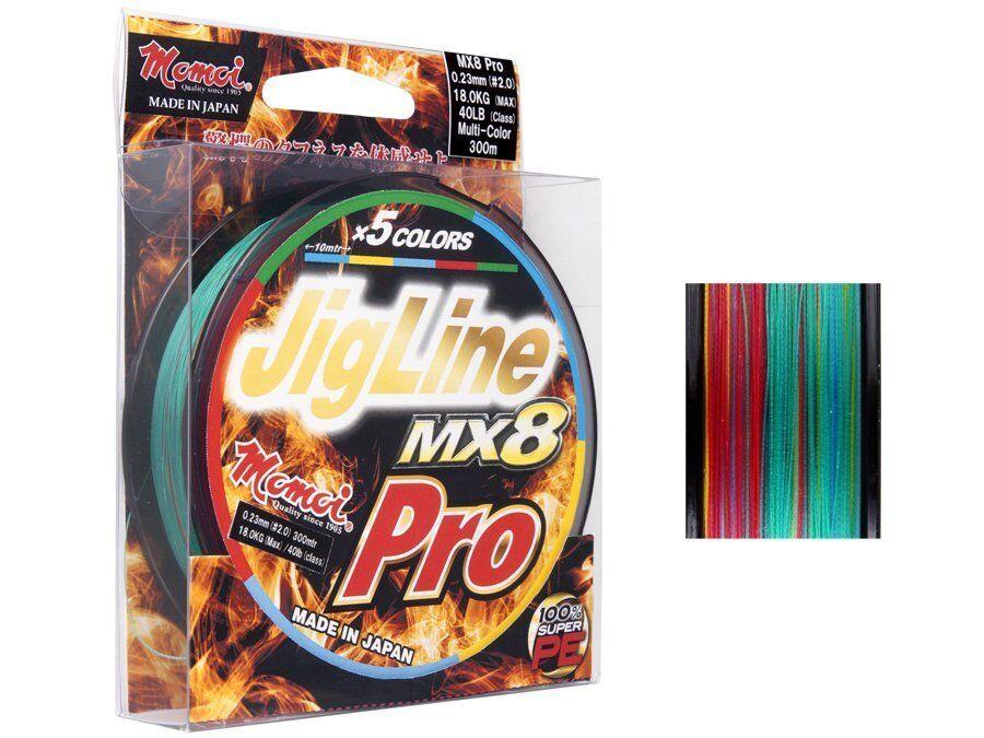 Momoi Braid JIGLINE MX8 PRO 200m 200m PRO 0,10mm-0,28mm Tresse NEUF 2018 c24575