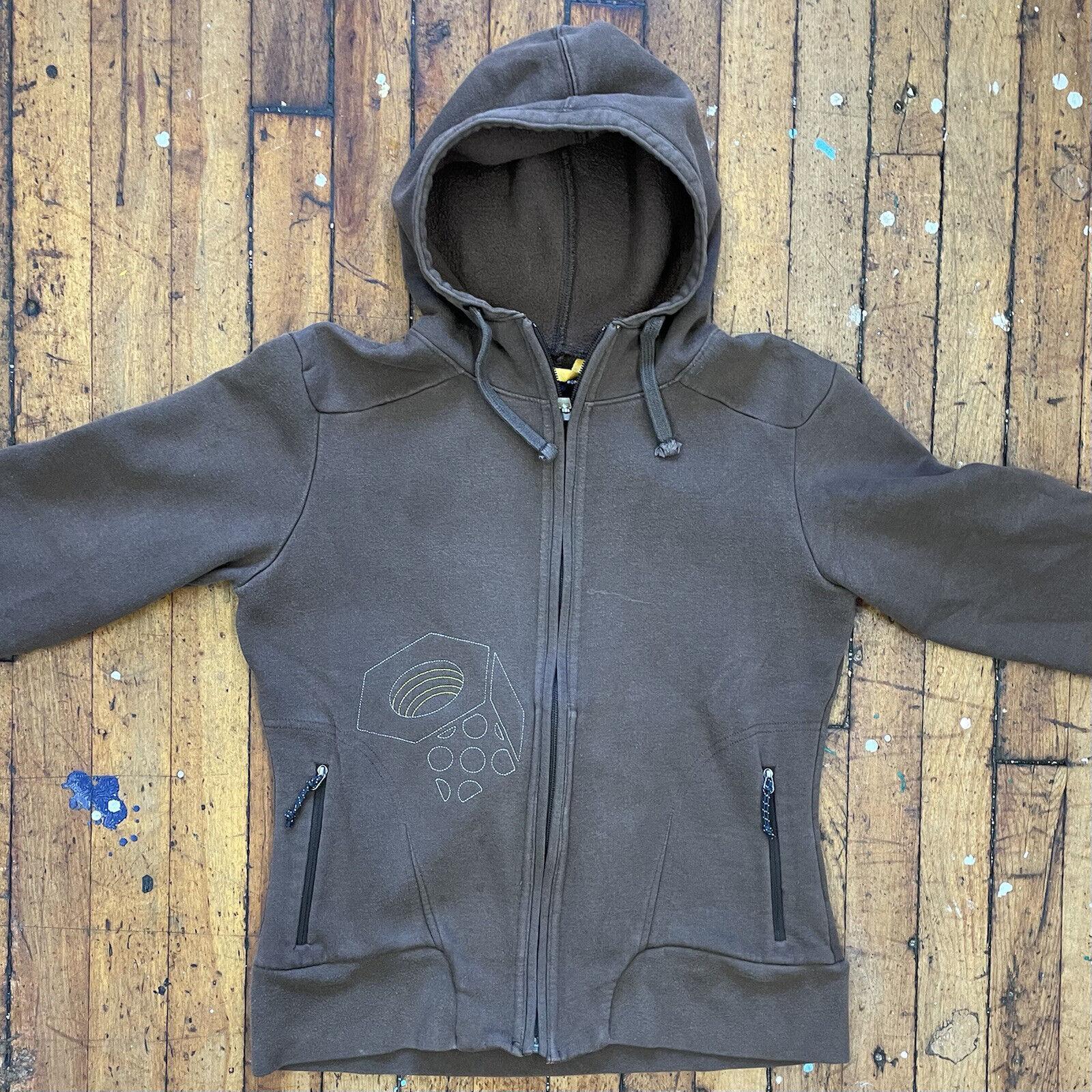 Mountain Hard Wear Women's Medium Tan/ Brown Full Zip Hooded Sweatshirt
