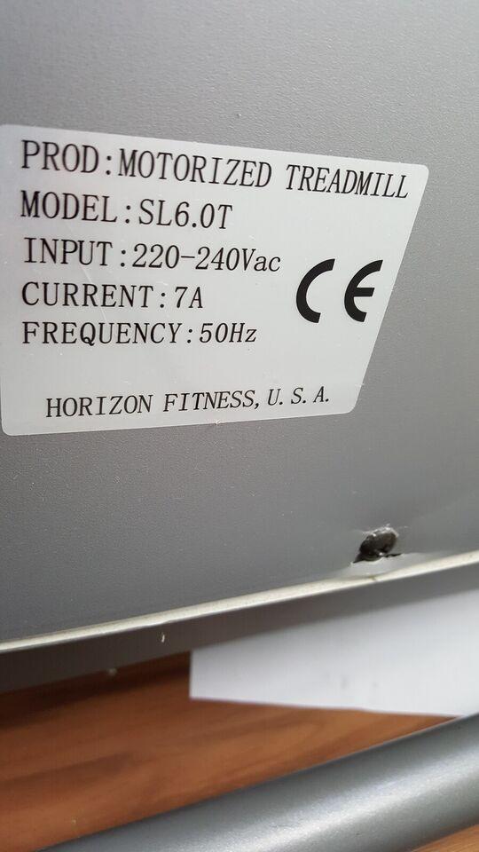 Løbebånd, Horizon SL6.0T, Horizon Fitness