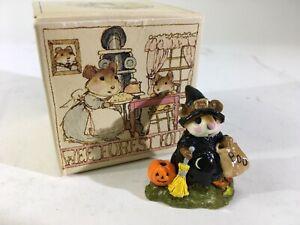 VTG-Wee-Forest-Folk-Annette-Petersen-Trick-Witch-Pumpkin-Halloween-1984-DS61