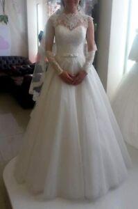 Vestiti Da Sposa Ebay.Abito Da Sposa Bianco Con Velo Ebay