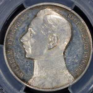 Medal 1914 PCGS SP58 German Empire Silver Crown Prince Wilhelm Proof