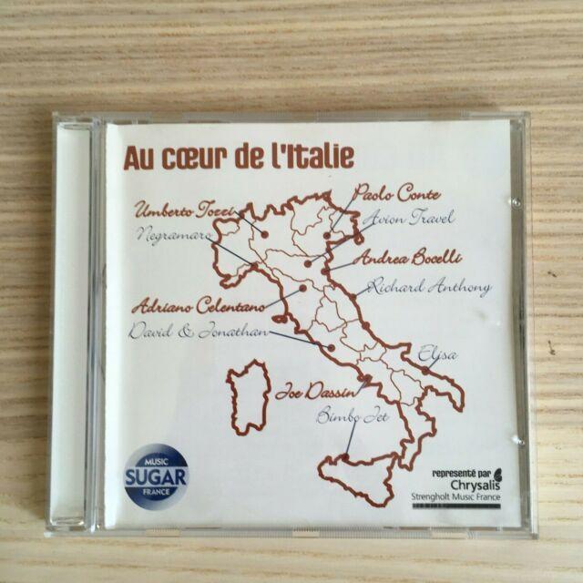 Various_A Coeur de l'Italie_CD Album Compilation PROMO_Sugar FRANCE RARO! Elisa