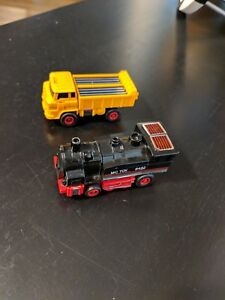 Vintage-Transformer-MC-toy-Dyna-Bot-GoBot-Lot-of-2-Dump-Truck-Train