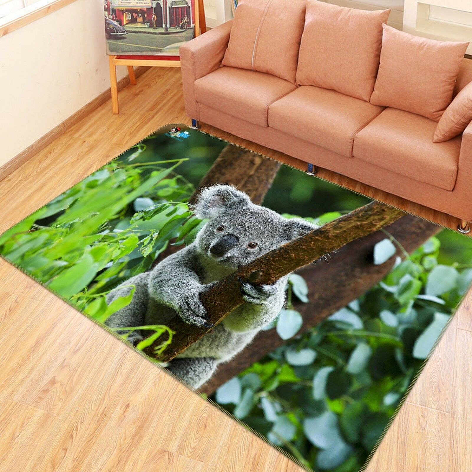 3D Koala verde Tree 55 Non Slip Rug Mat Room Mat Quality Elegant Photo Carpet AU