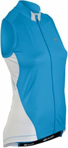 SUGOI Evolution Bike Sleeveless Jersey Womens Medium Road Cycling bluee