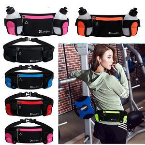 Running-Hydration-Belt-Waist-Pouch-Bag-2-Water-Bottles-Hiking-Jogging-Gym-Pack