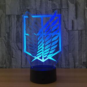 Anime One Piece Roronoa Zoro 3D LED Desk Table Lamp Room Art Decor Light Lantern