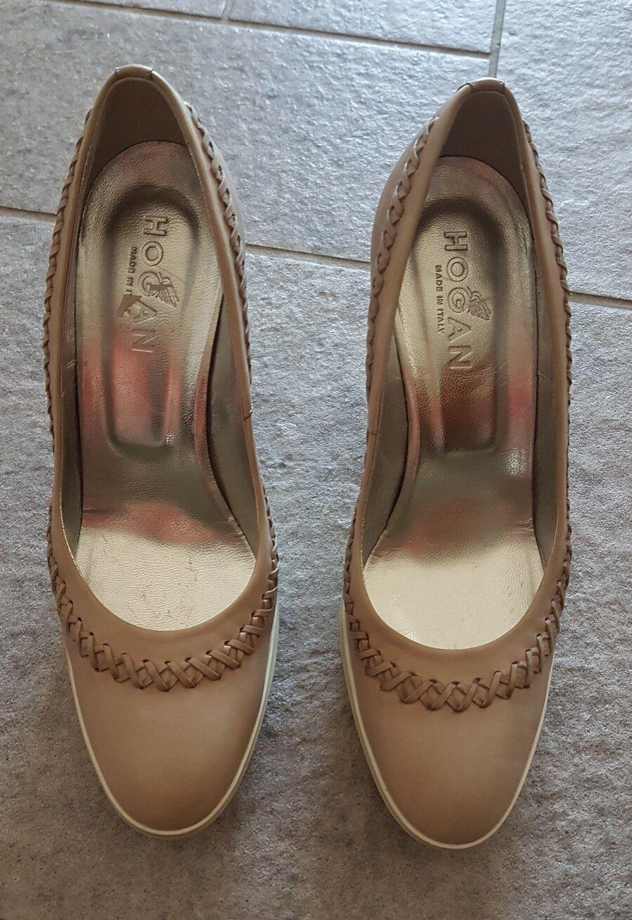 HOGAN by Tods Pumps Gr. D 37 Beige Damen Schuhe High Heels Neu Leder Neuwertig