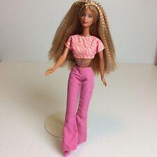 Vtg Butterfly Art Tattoo Barbie 1991 Blonde Crimped Hair