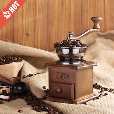Coffee Grinder Spice Hand Crank Mill Ceramic Burr Vintage Manual Ceramic Body