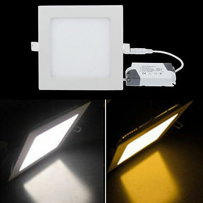 6W 9W 12W 15W 18W 21W LED CREE Recessed Ceiling Square Panel Down Spot Light Kit