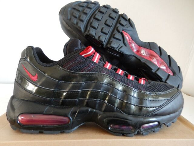 huge selection of 1014a fb1a3 NIKE AIR MAX 95 BLACK-VARSITY RED SZ 8.5 PATENT RARE!!  609048