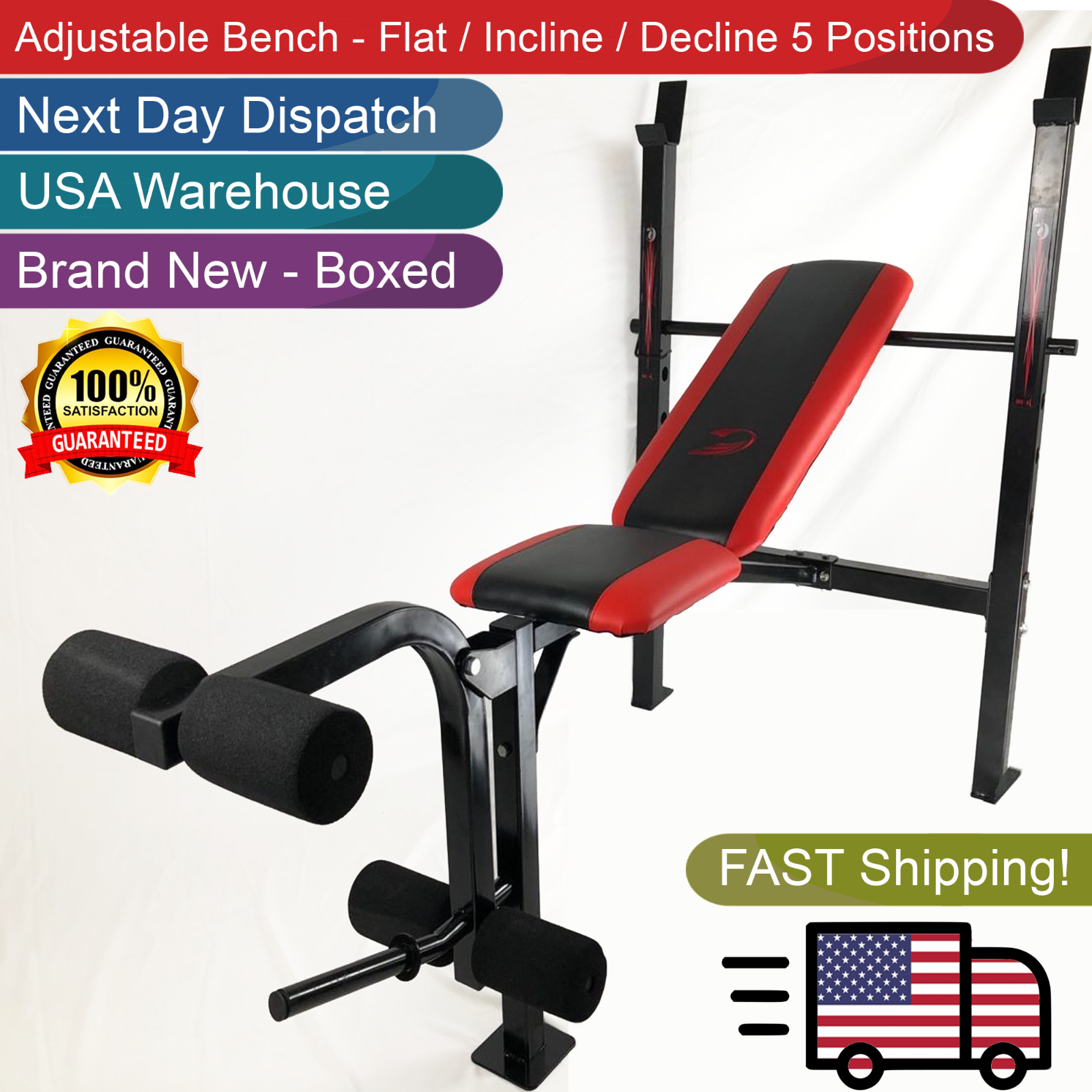 Adidas Flat Weight Lifting Bench Sports Fitness Workout Back Ab Exercises Black For Sale Online Ebay