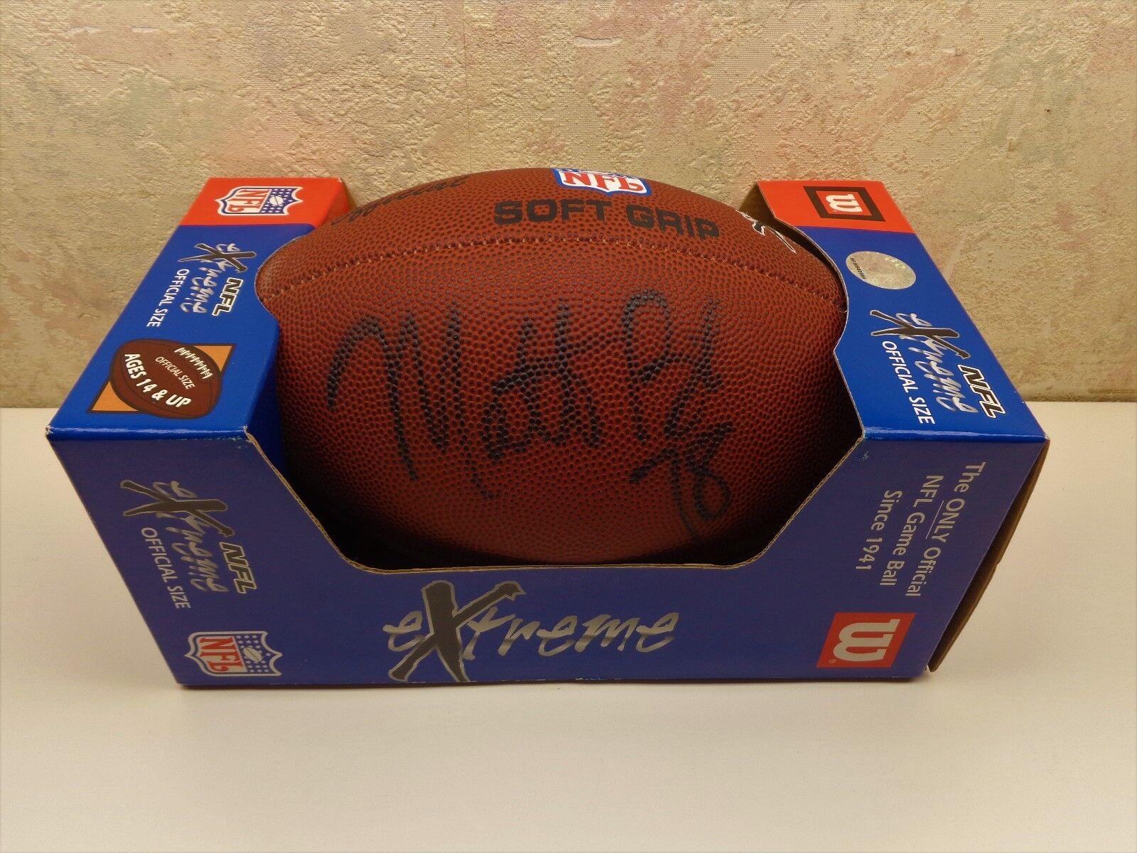 Wilson NFL Extreme Footbtutti MATT BIRK Minnesota Vires 78 Breast Cancer NIB