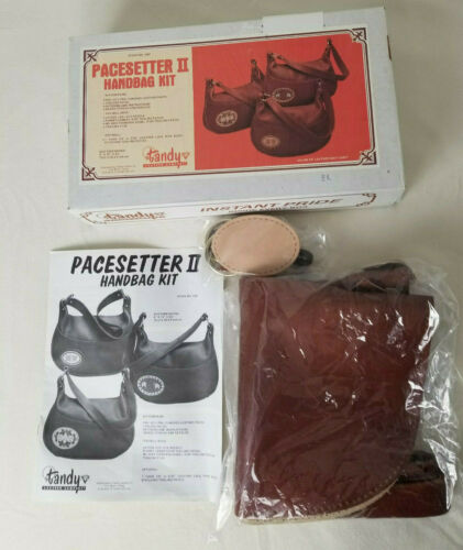 Brown Vintage Tandy Pacesetter II Leather Handbag Purse Kit 4367  Complete