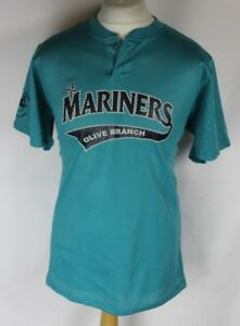 finest selection 314a6 3f3d1 Details about #5 SEATTLE MARINERS OLIVE BRANCH BASEBALL JERSEY MENS MEDIUM  ALLESON ATHELTIC