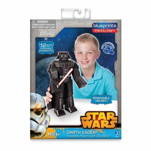 "12/"" Darth Vader Pack Poseable Paper Craft Assemble Star Wars Blueprints"