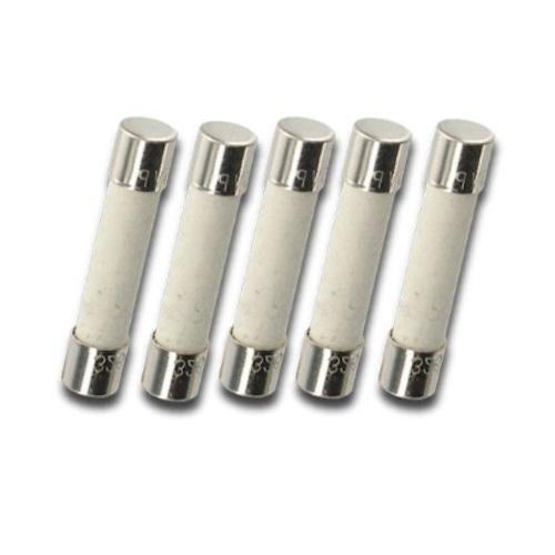 Pack Of 5 Mda 7a  Bk  Mda 7a  125v  250v Slow Blow Ceramic Fuses  T7a 7 Amp  6x30m