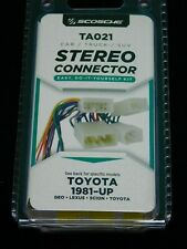 Scosche Industries Ta021 4 Speaker Connector 1987 Up Toyota Power For Sale Online Ebay