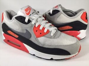 buy online afc51 10786 Details about Nike Air Max 90 OG Infrared White Grey Black Mens Size 11.5  Rare 725233-106