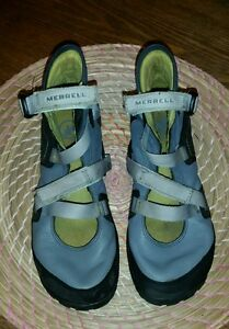 Merrell Power Play Glove Grey and Black barefoot Vibram soles SIZE 5.5 US Women