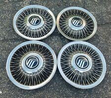 """Set of 4 OEM 1992-97 Mercury Grand Marquis 15"""" Wire Spoked Hubcaps Wheel Covers"""