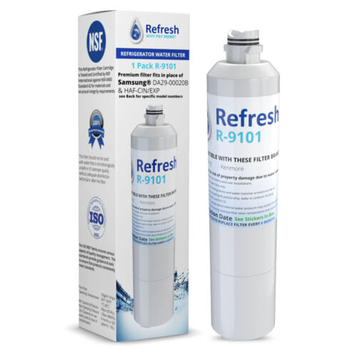 Replacement For Samsung RF30HBEDBSR/AA Refrigerator Water Filter - by Refresh