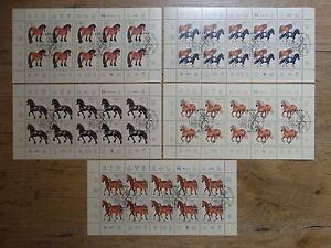 Bund-10-x-1920-1924-gestempelt-KB-Zehnerbogen-Kleinbogen-1997-BRD-Motiv-Pferde