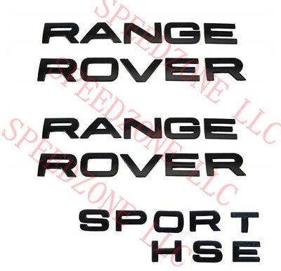 3PCS GLOSS BLACK 3M LETTERS HOOD OR TRUNK TAILGATE RANGE ROVER /& SPORT HSE LOGO