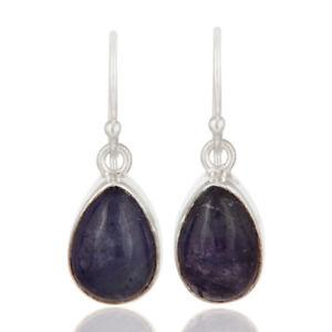Natural-Tanzanite-Gemstone-Earrings-925-Sterling-Silver-Handmade-Jewelry