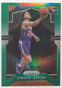 Cameron-Johnson-2019-20-Prizm-Basketball-Green-Refractor-Rookie-Card-RC-Suns
