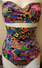 Brand New Swimming Costume Bikini High Waist Bottoms Floral Print Size Small -10