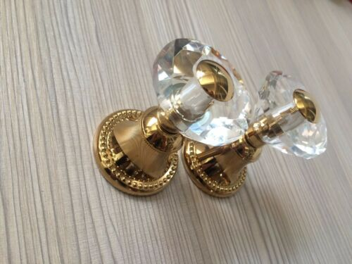 Gold clour widespread bathroom Lavatory Sink dolphin faucet crystal mixer tap