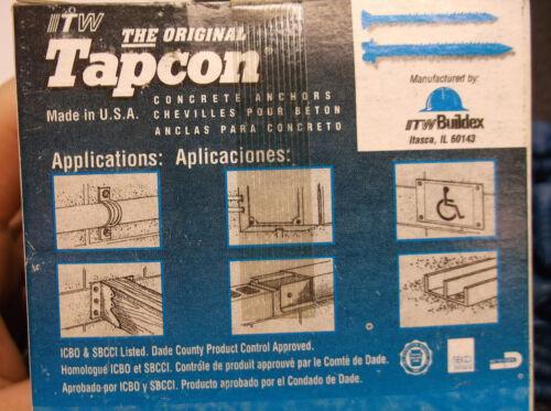 TAPCON 100pk 3171407 Masonry Screw Flat 3//16 x1 3//4L FREE SHIP C27