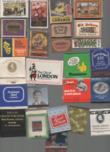 11 VARIOUS MATCHBOXES & 13 VARIOUS MATCHBOOKS