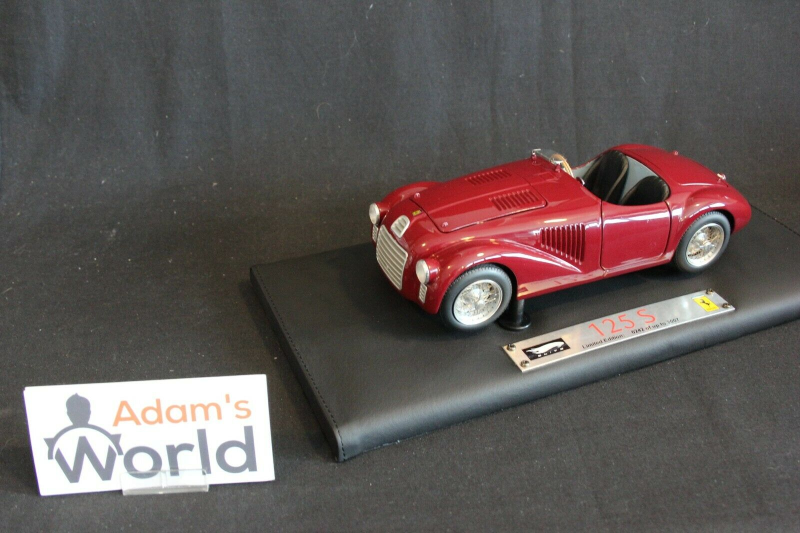 Hot Wheels Super Elite Ferrari 125 S 1 18 dark rouge (PJBB)