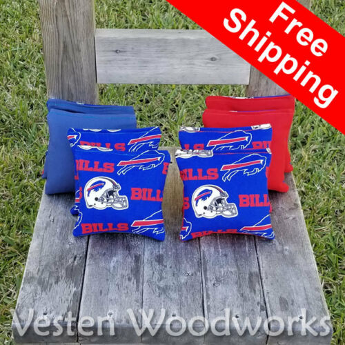 FREE Shipping Top Quality Buffalo Bills Cornhole Bags