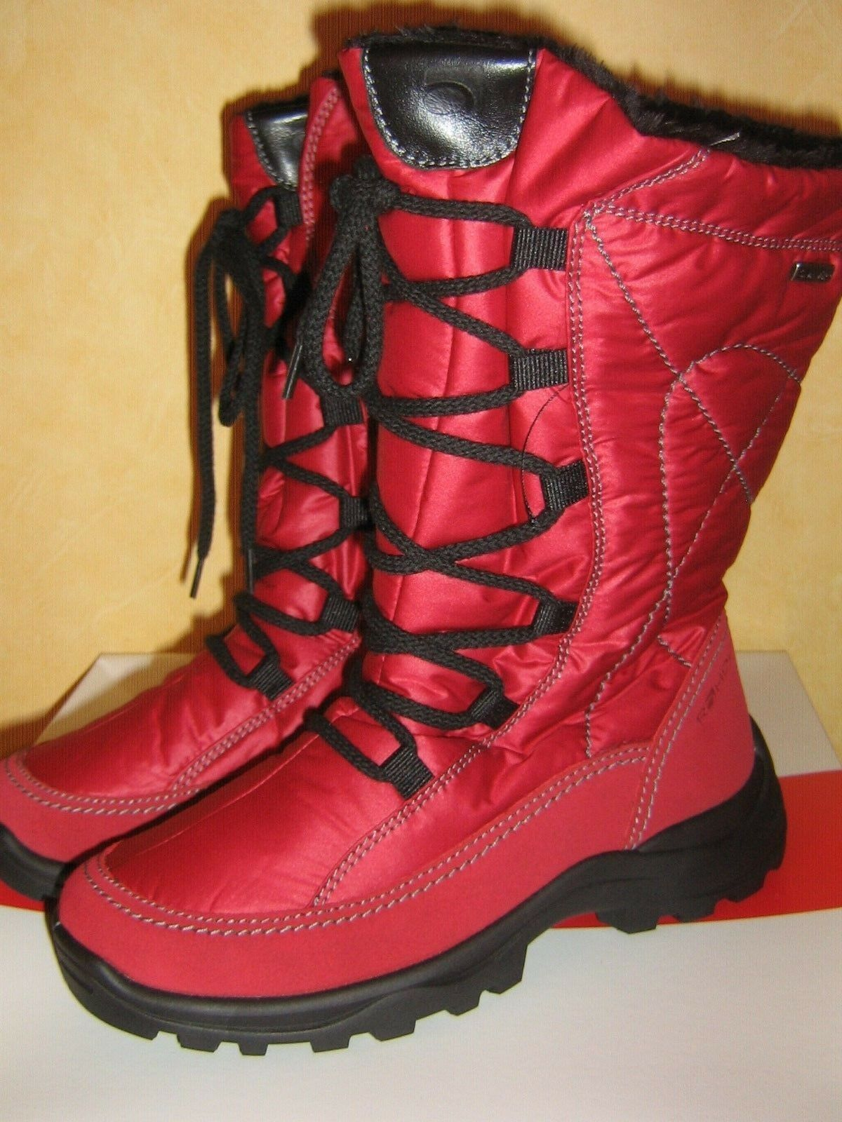 Rohde Zip All Weather ROT SnowStiefel SympaTex Breathable Membrane Zip Rohde & Lace 1f1efc