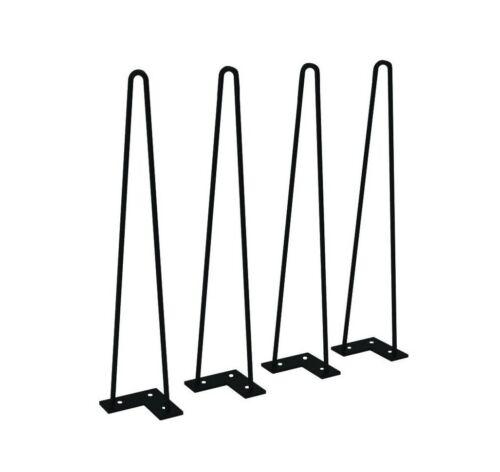 "10/""-30/""  Hairpin Legs Set of 4 Black Heavy Duty Table Legs for Industrial"