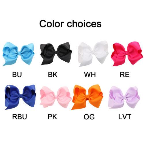 1PC Kid Girls Hair Clips Cloth Bow Hairpin Hair Claw Clips Baby Hair Accessories