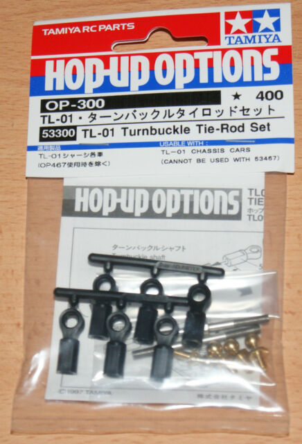 TAMIYA 53300 TL-01 Tendeur Tie-Rod Set (TL01/Stadium radier), Neuf sous emballage
