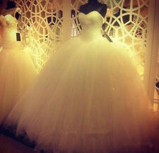 Luxury Beaded Sweetheart Ball Gown Wedding Dress 2016 White Princess Bridal Gown