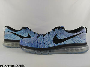 63708a6a7f35 Nike Flyknit Max Running Shoes Chlorine Blue Black Men s Size 12.5 ...