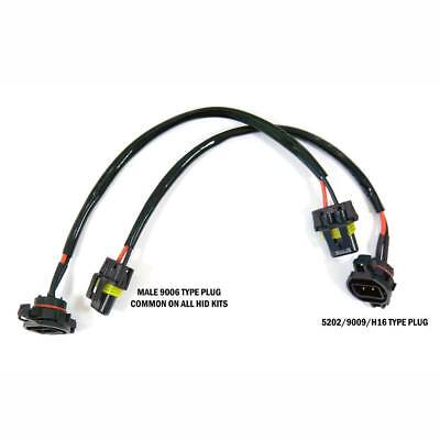 HID Wire Harness Cable Ballast to Socket Plug 5202 2504 9009 Two Pieces Hid Wire Harness on