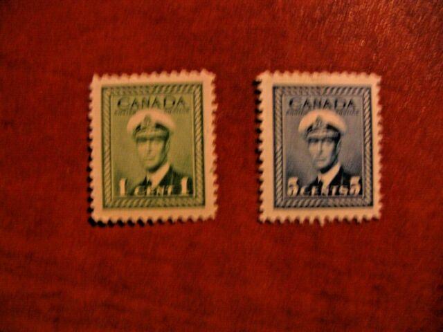 Canada 1942-1943 #249-251 single King George VI War Issue Mint Hinged VF