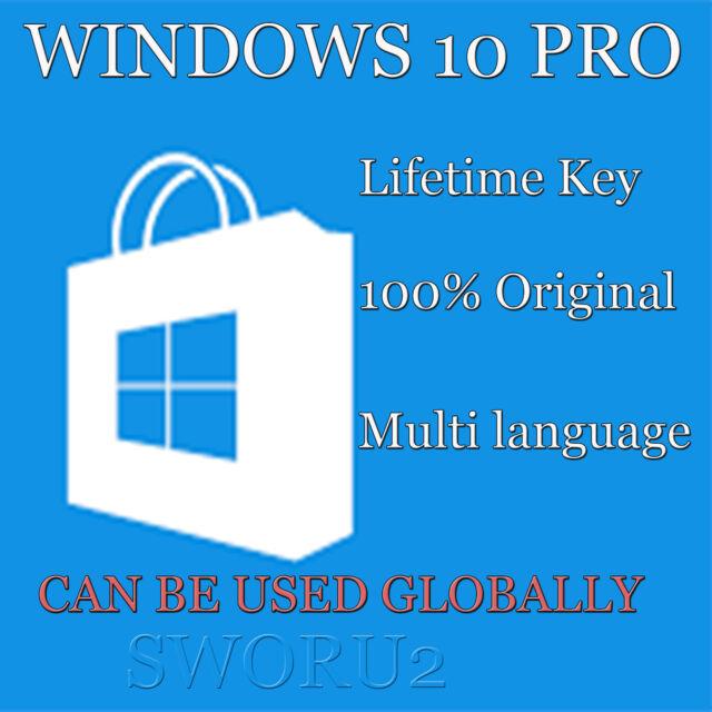 Genuine Windows 10 Pro 32/64bit Original Microsoft ...