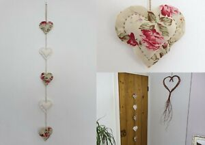 Handmade Tissu Shabby Chic Love Coeur Mariage Nursery Garland Bunting