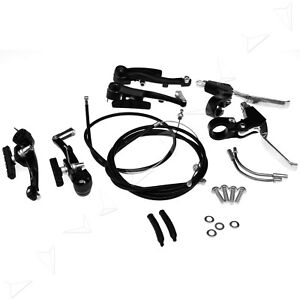 Brake-Levers-V-Brakes-Cables-Caliper-Set-For-BMX-Mountain-Bike-Bicycle-AU-Stock